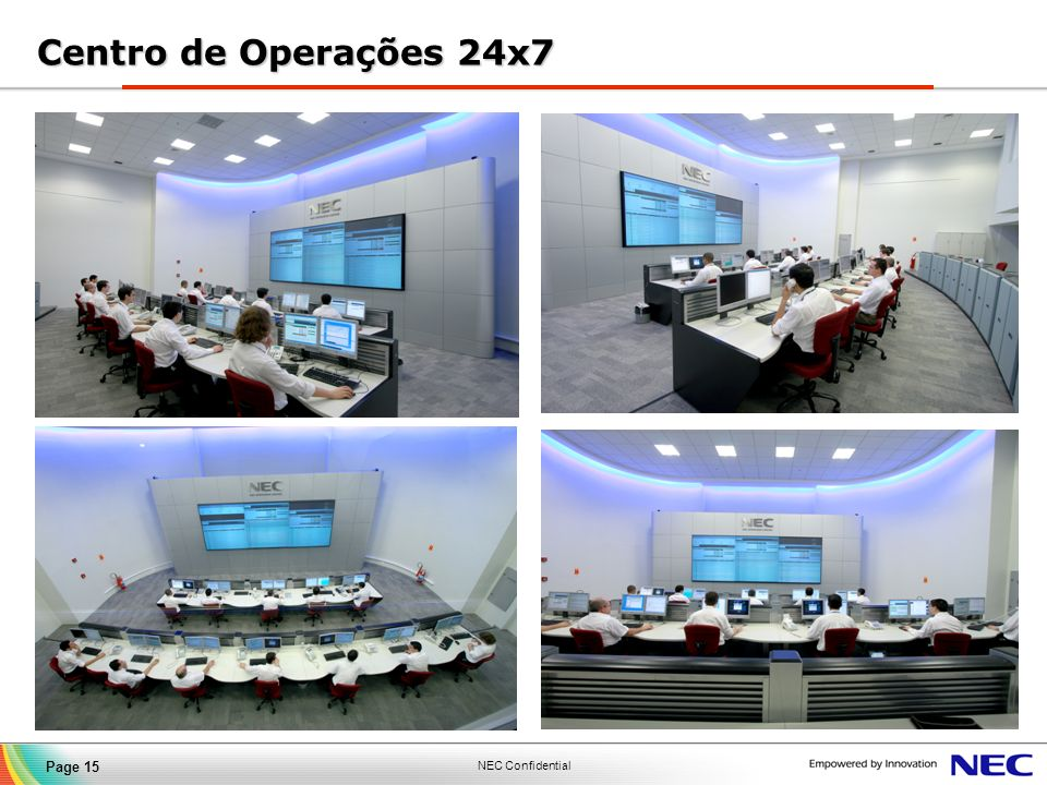 Centro de Operações 24x7 15