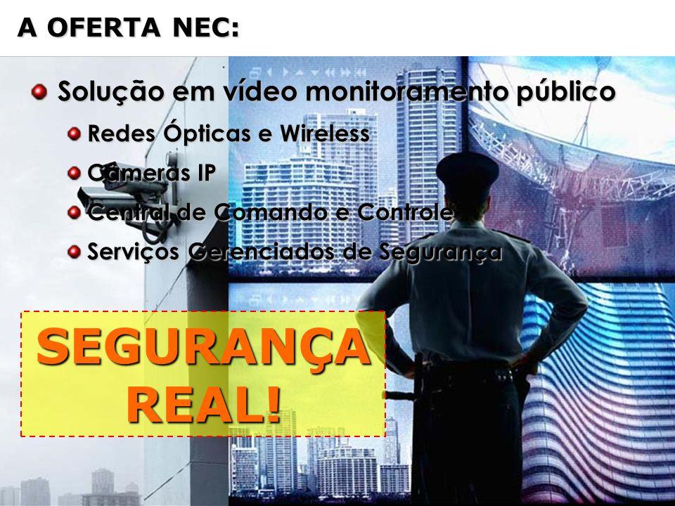 SEGURANÇA REAL! Solução em vídeo monitoramento público A OFERTA NEC: