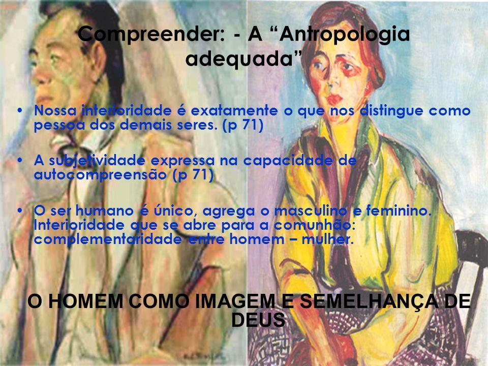 Compreender: - A Antropologia adequada