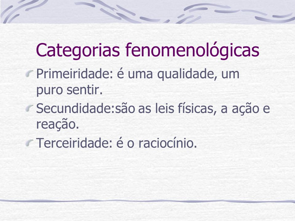 Categorias fenomenológicas