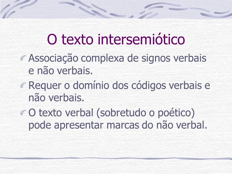 O texto intersemiótico