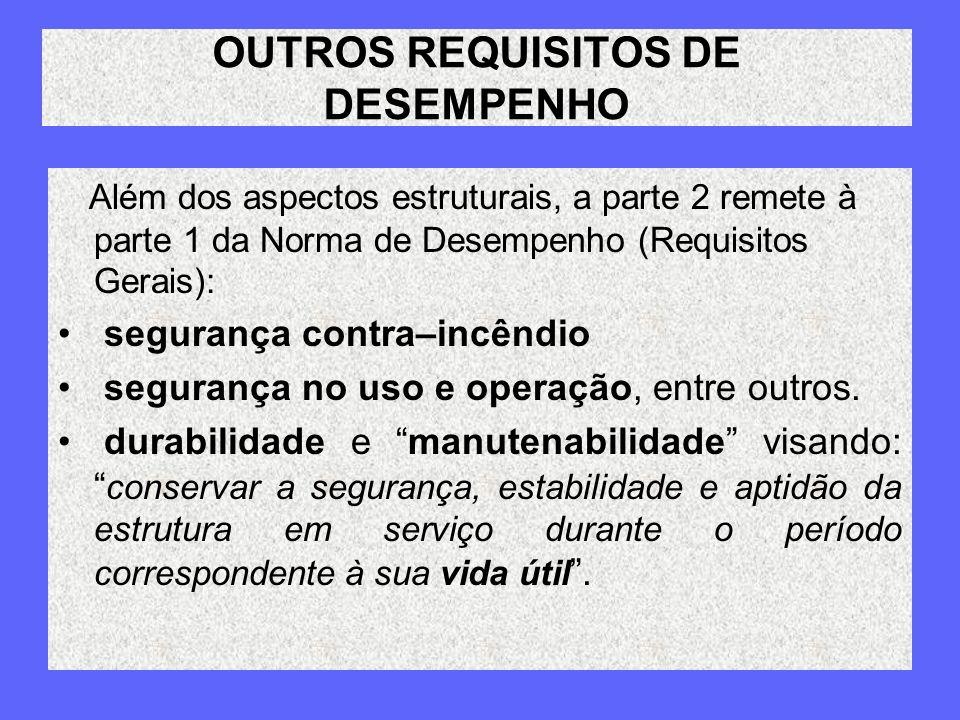 OUTROS REQUISITOS DE DESEMPENHO