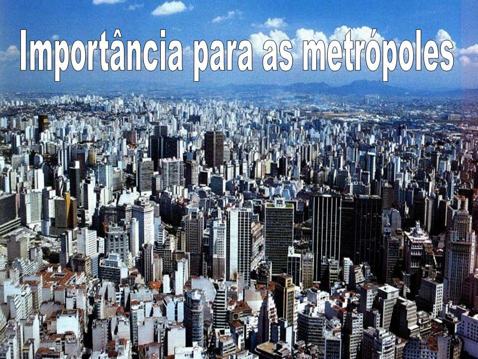 Importância para as metrópoles