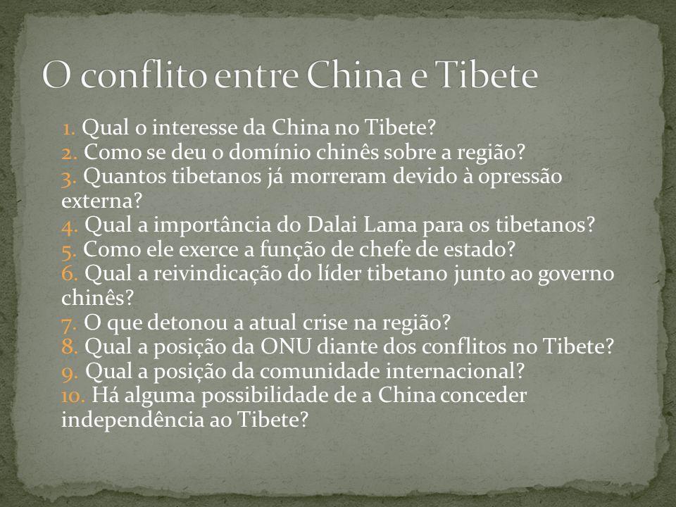 O conflito entre China e Tibete