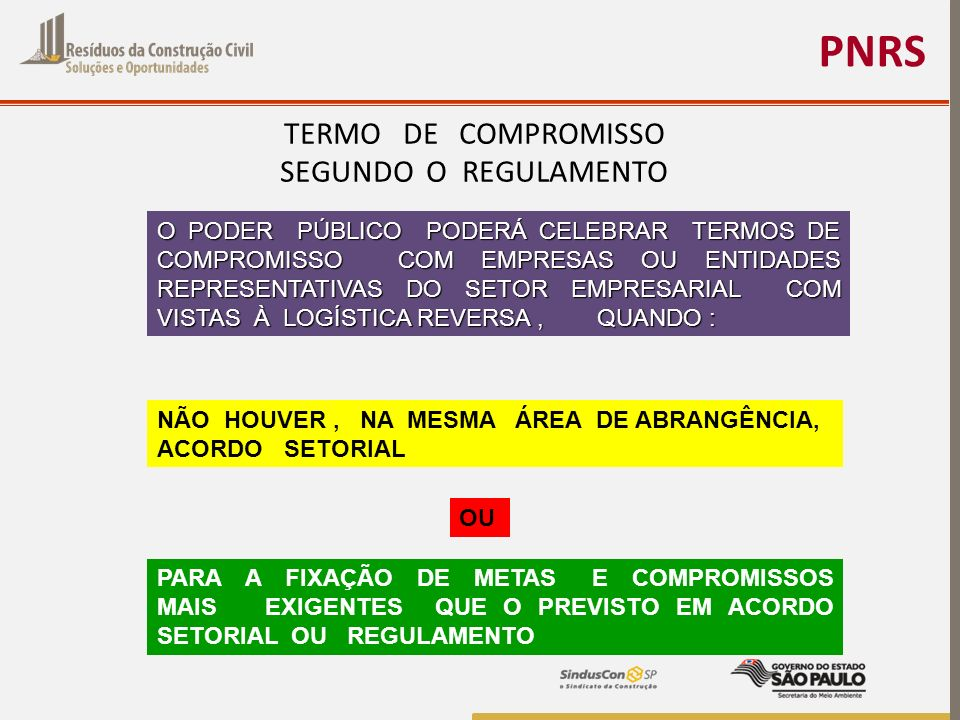 PNRS TERMO DE COMPROMISSO SEGUNDO O REGULAMENTO