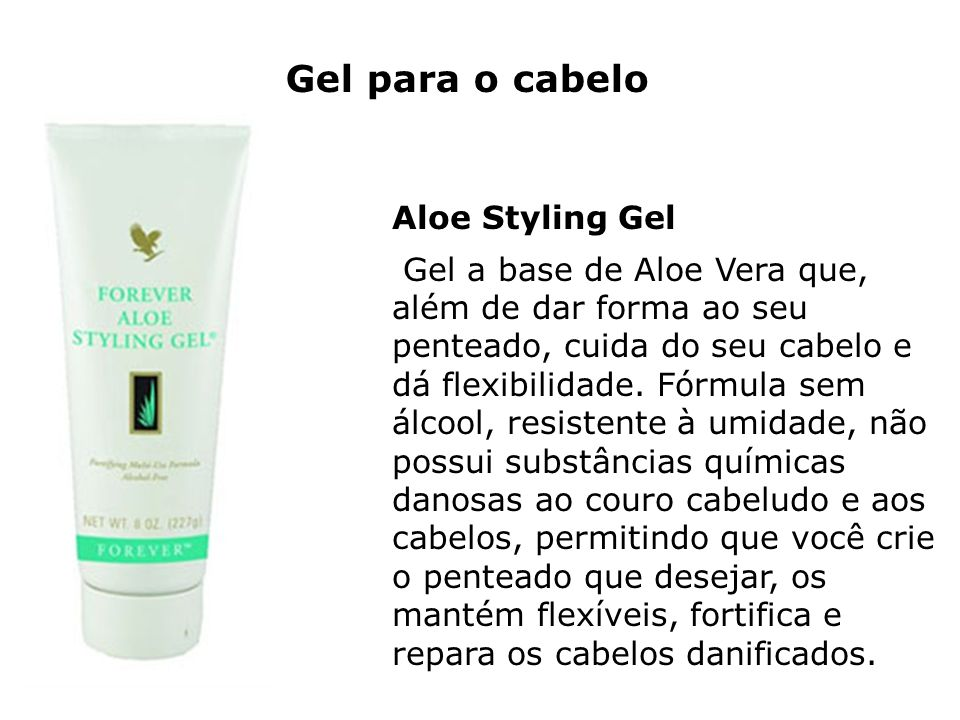 Gel para o cabelo Aloe Styling Gel