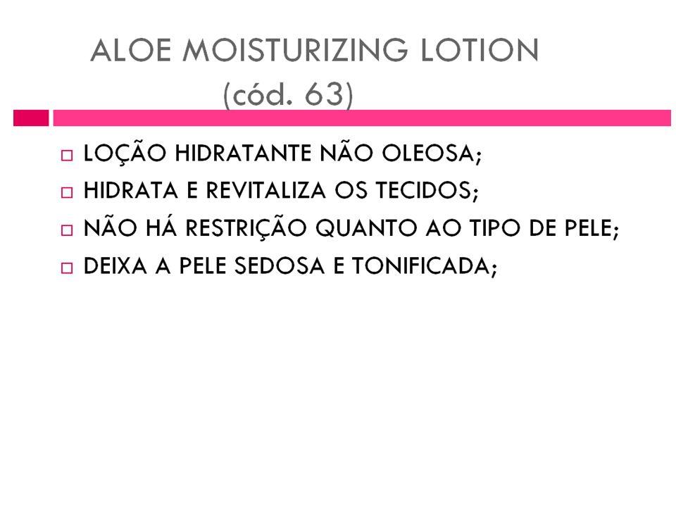 Loção umedecedora de Aloe
