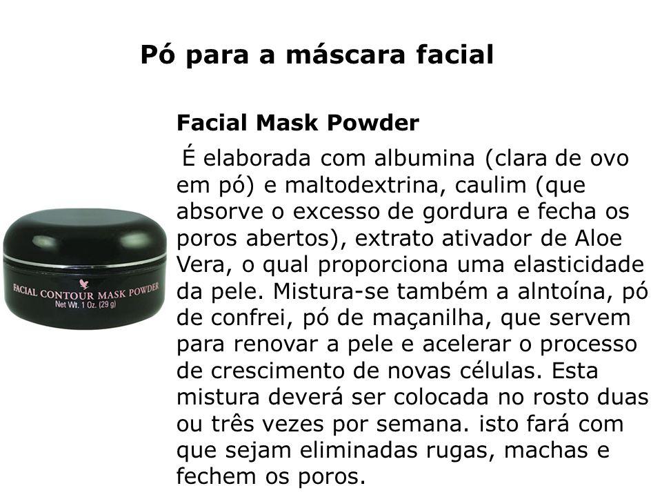 Pó para a máscara facial