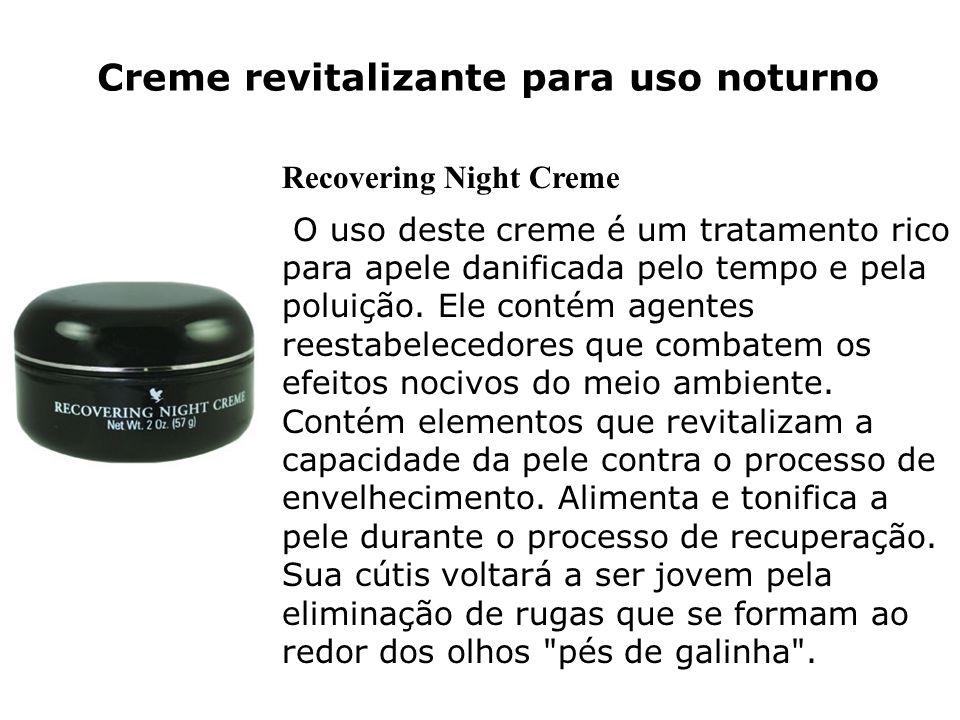Creme revitalizante para uso noturno