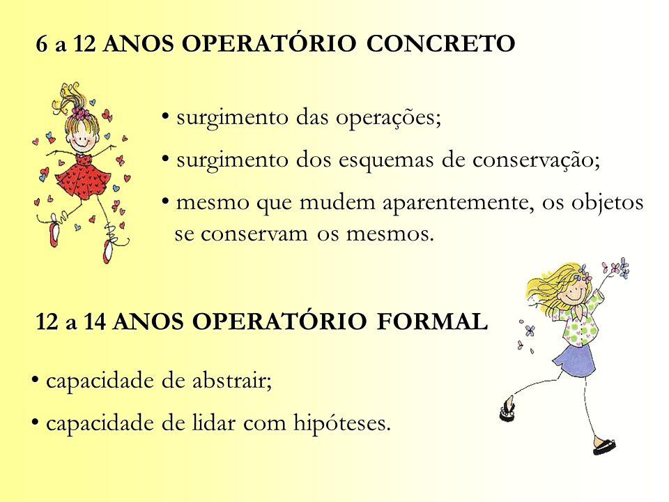 6 a 12 ANOS OPERATÓRIO CONCRETO