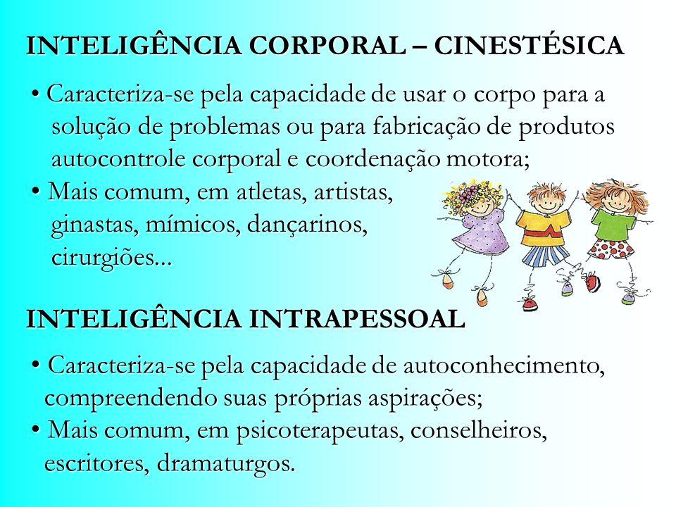 INTELIGÊNCIA CORPORAL – CINESTÉSICA