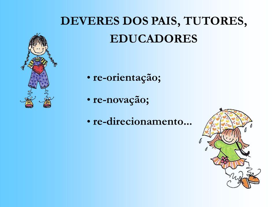 DEVERES DOS PAIS, TUTORES, EDUCADORES