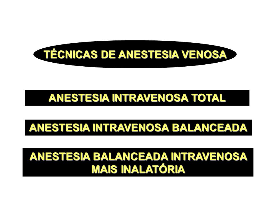 TÉCNICAS DE ANESTESIA VENOSA