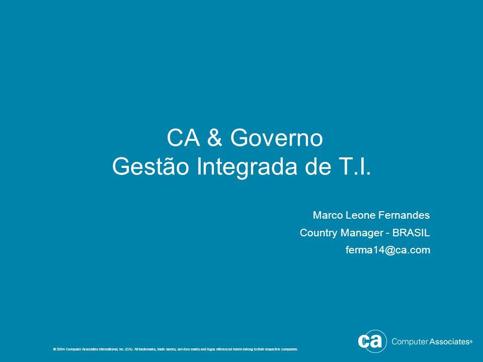 CA & Governo Gestão Integrada de T.I.