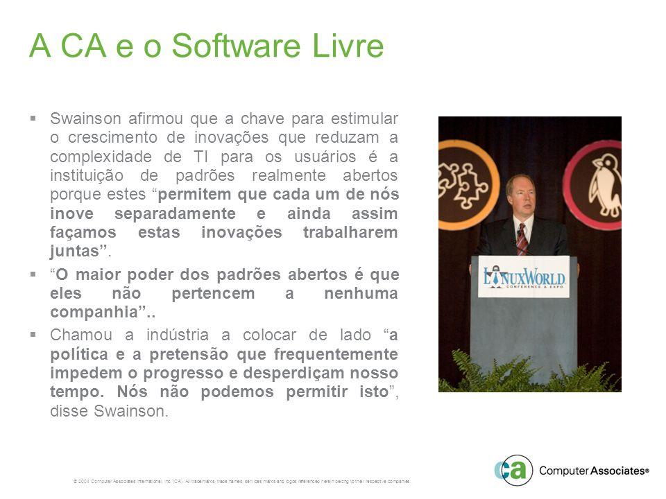 A CA e o Software Livre