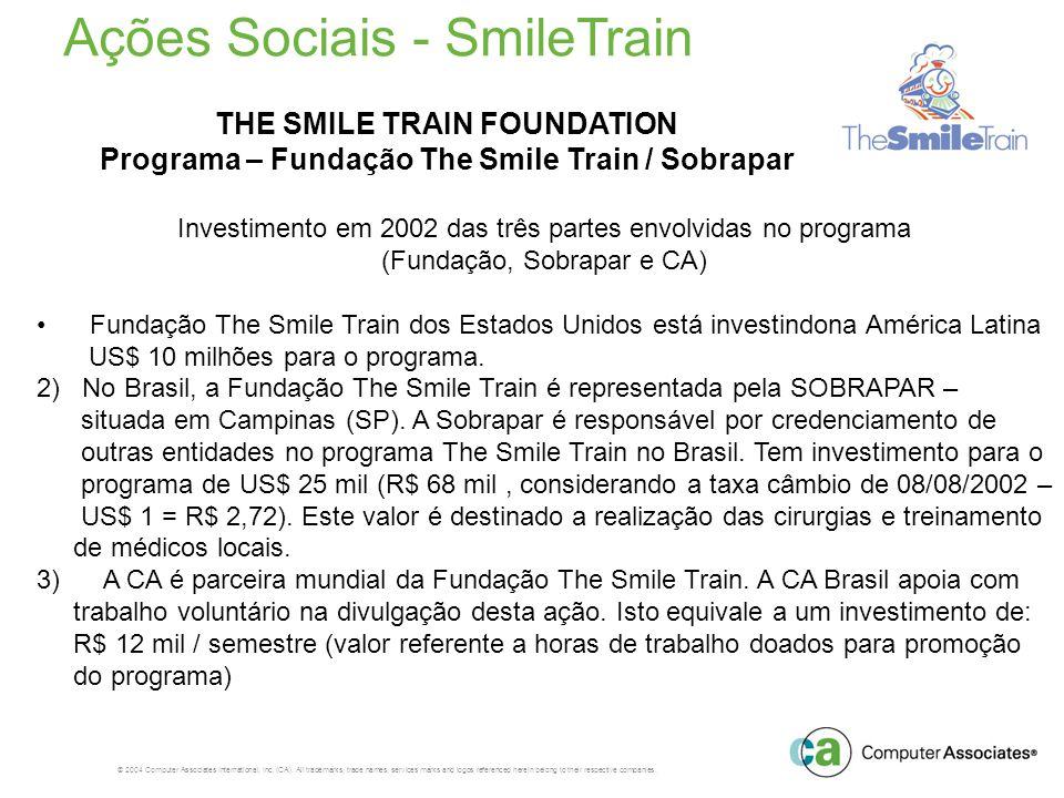 Ações Sociais - SmileTrain