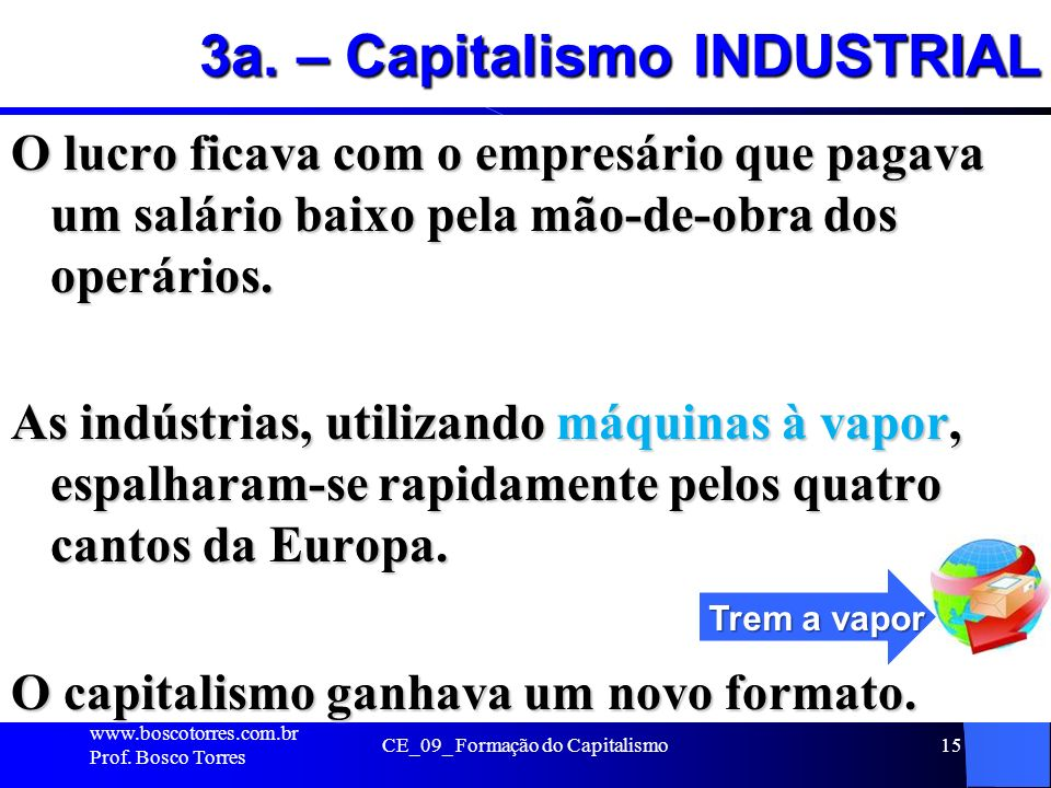 3a. – Capitalismo INDUSTRIAL