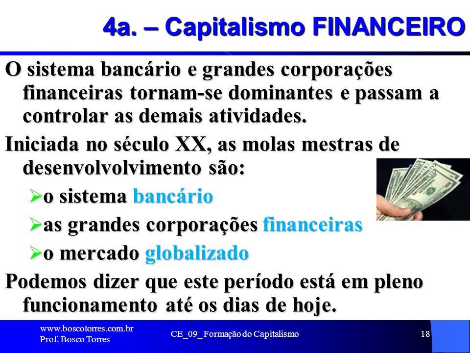 4a. – Capitalismo FINANCEIRO