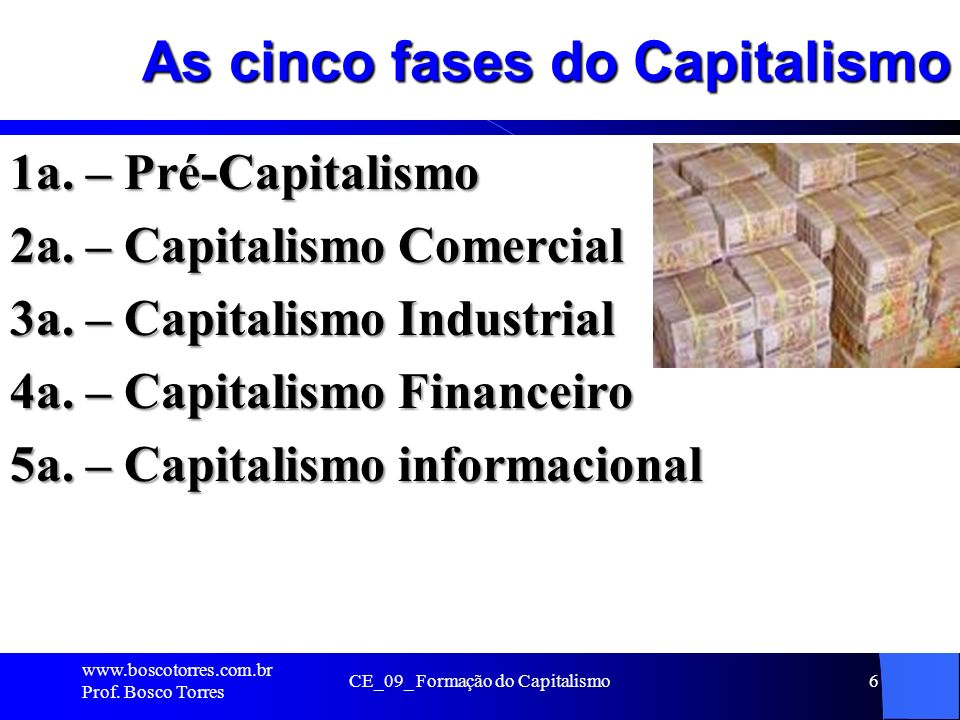 As cinco fases do Capitalismo