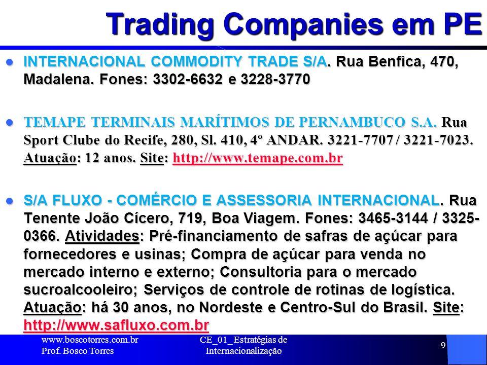 Trading Companies em PE