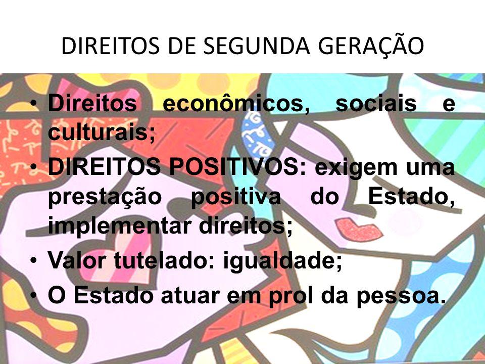 DIREITOS DE SEGUNDA GERAÇÃO