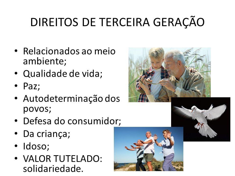 DIREITOS DE TERCEIRA GERAÇÃO