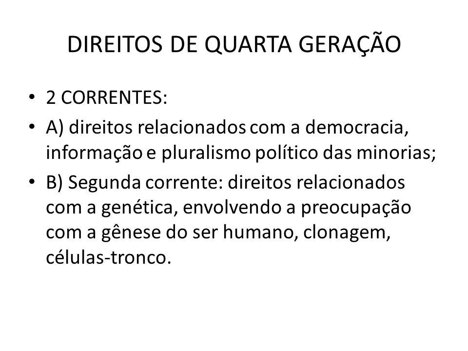DIREITOS DE QUARTA GERAÇÃO