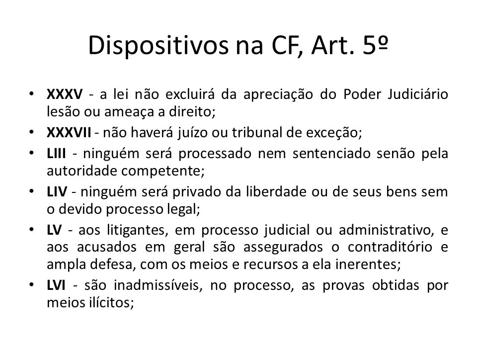Dispositivos na CF, Art. 5º
