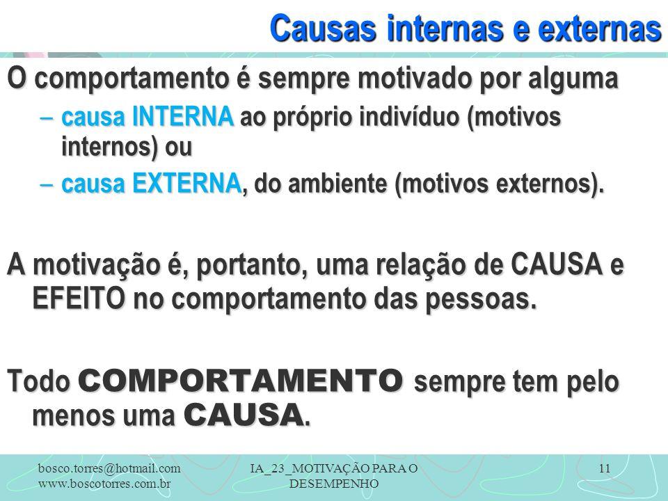 Causas internas e externas