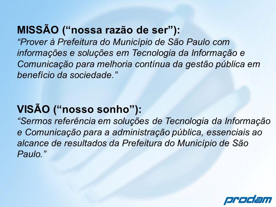 MISSÃO ( nossa razão de ser ):