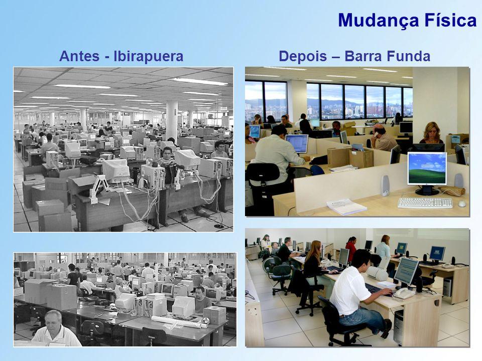 Mudança Física Antes - Ibirapuera Depois – Barra Funda