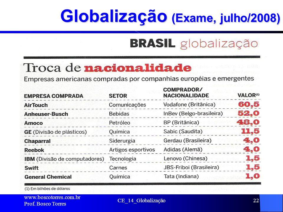 Globalização (Exame, julho/2008)