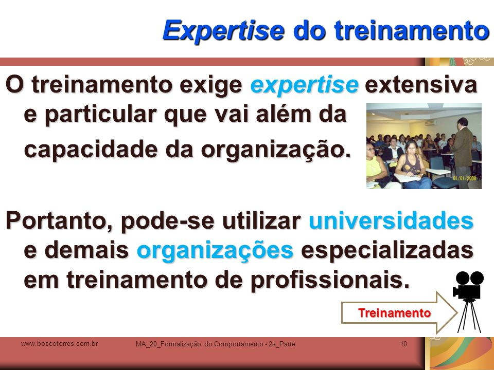 Expertise do treinamento