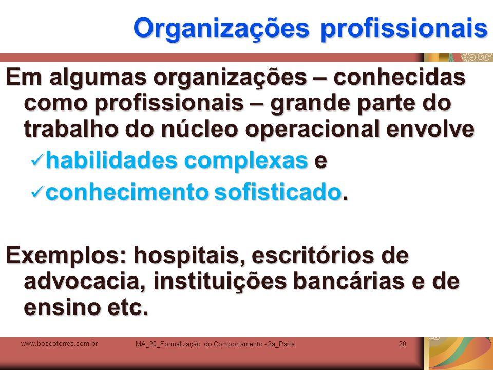 Organizações profissionais