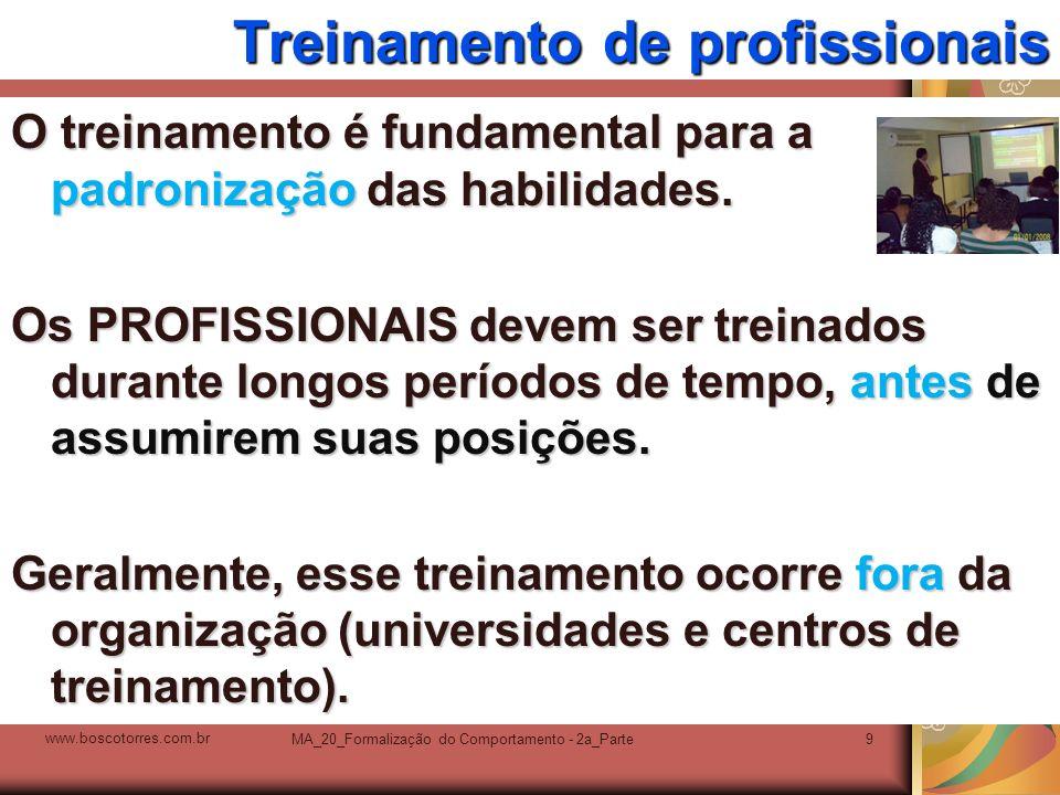 Treinamento de profissionais