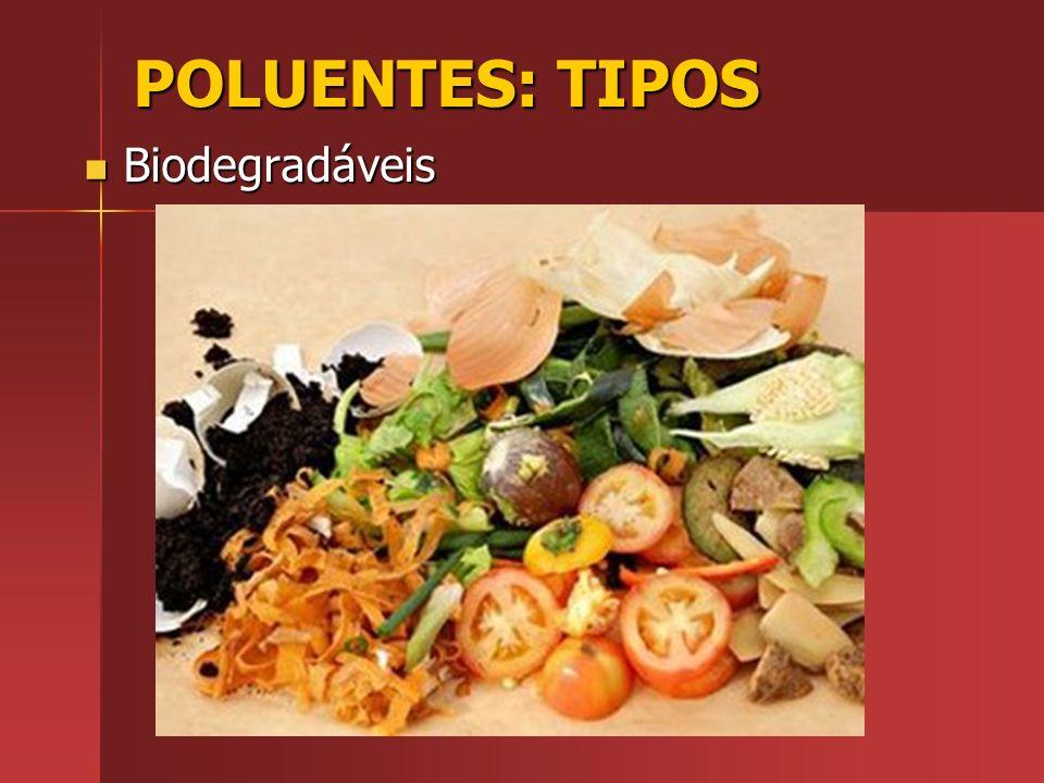 POLUENTES: TIPOS Biodegradáveis
