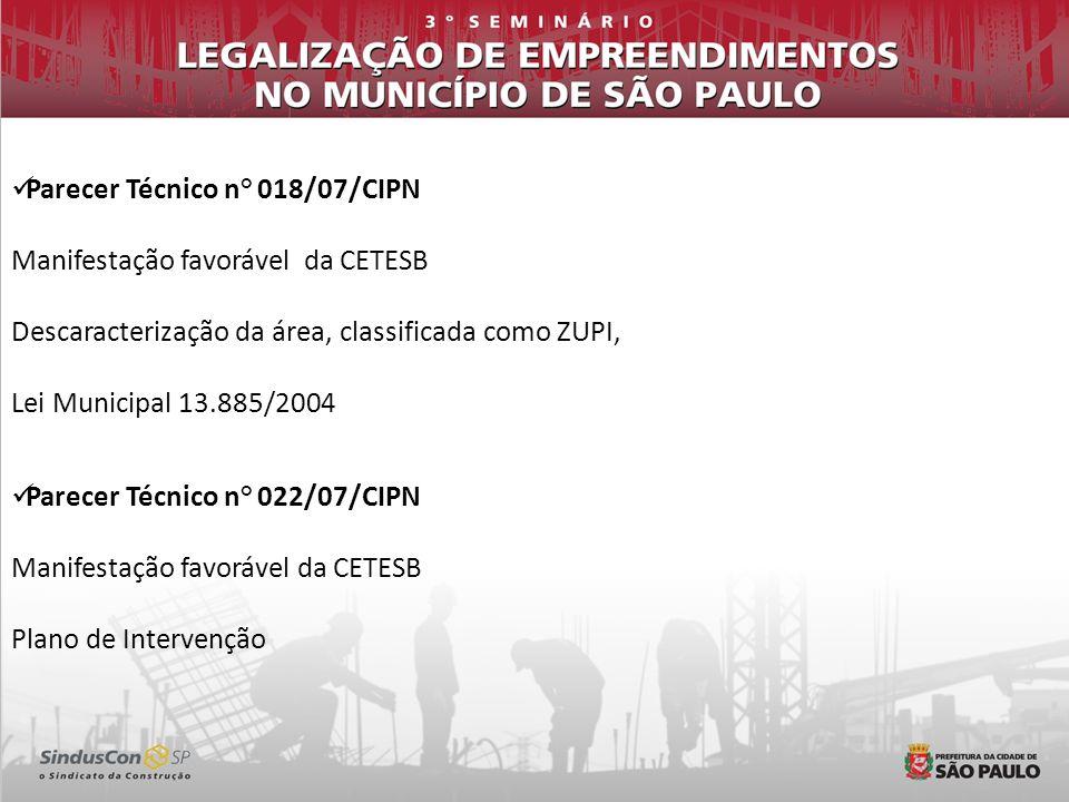 Parecer Técnico n° 018/07/CIPN