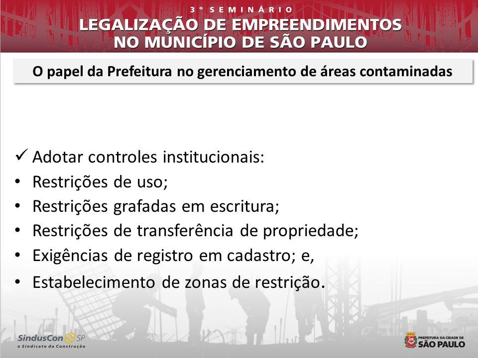 O papel da Prefeitura no gerenciamento de áreas contaminadas