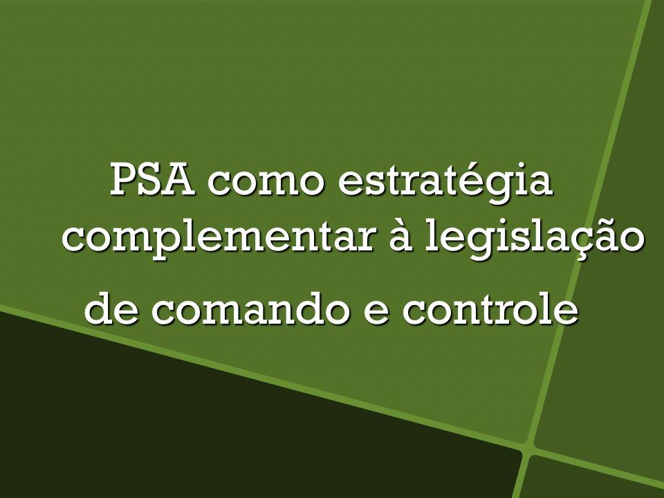 PSA como estratégia complementar à legislação
