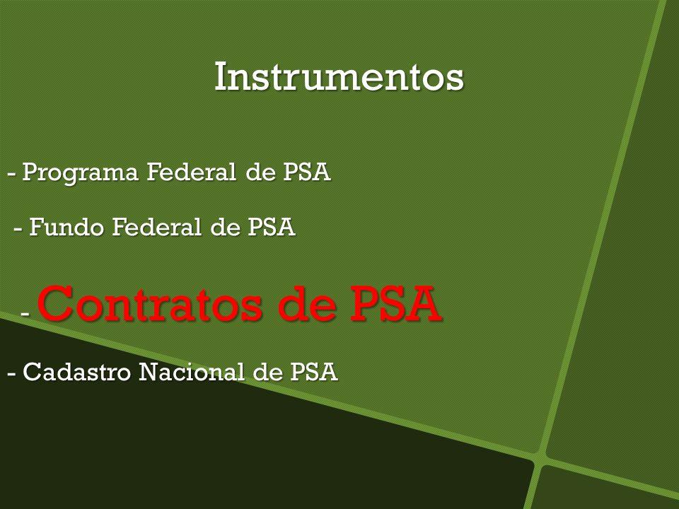 Instrumentos - Programa Federal de PSA - Fundo Federal de PSA