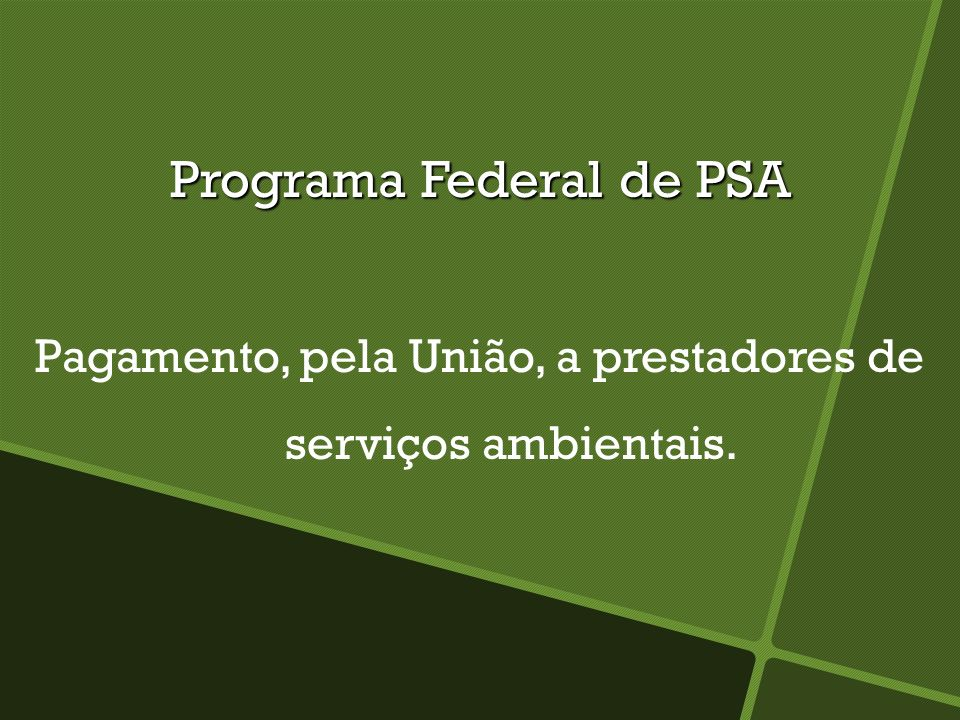 Programa Federal de PSA