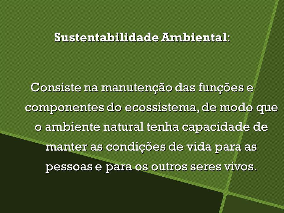 Sustentabilidade Ambiental:
