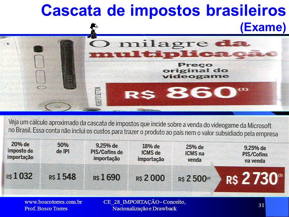 Cascata de impostos brasileiros (Exame)