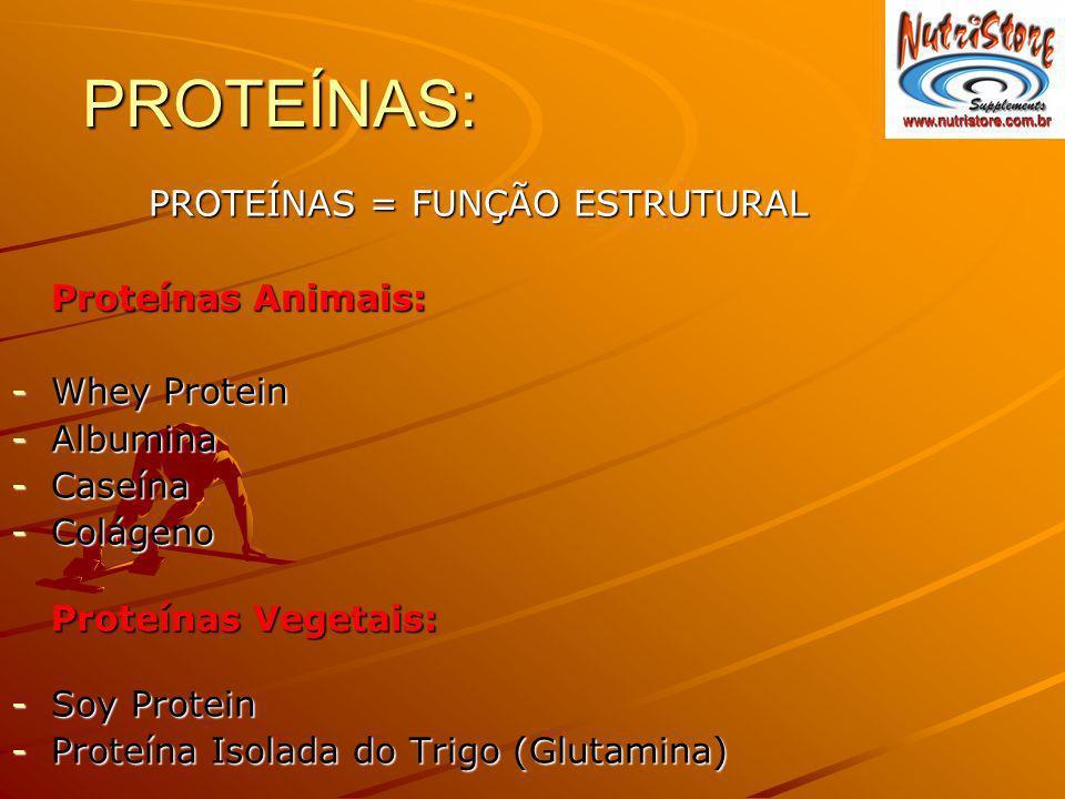 PROTEÍNAS: Proteínas Animais: Whey Protein Albumina Caseína Colágeno