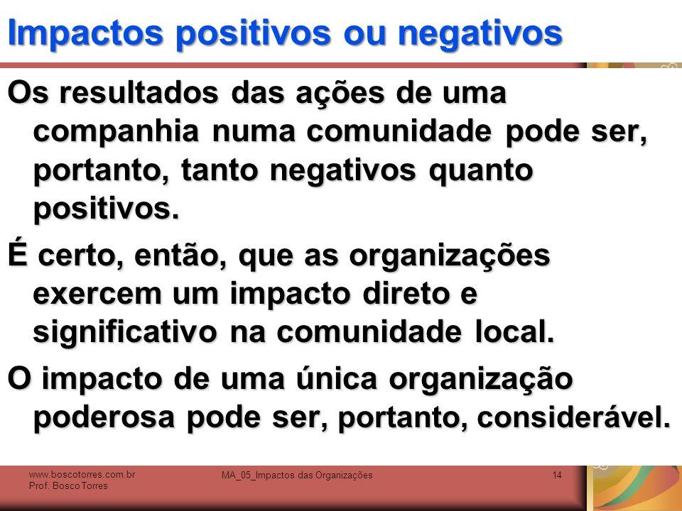 Impactos positivos ou negativos