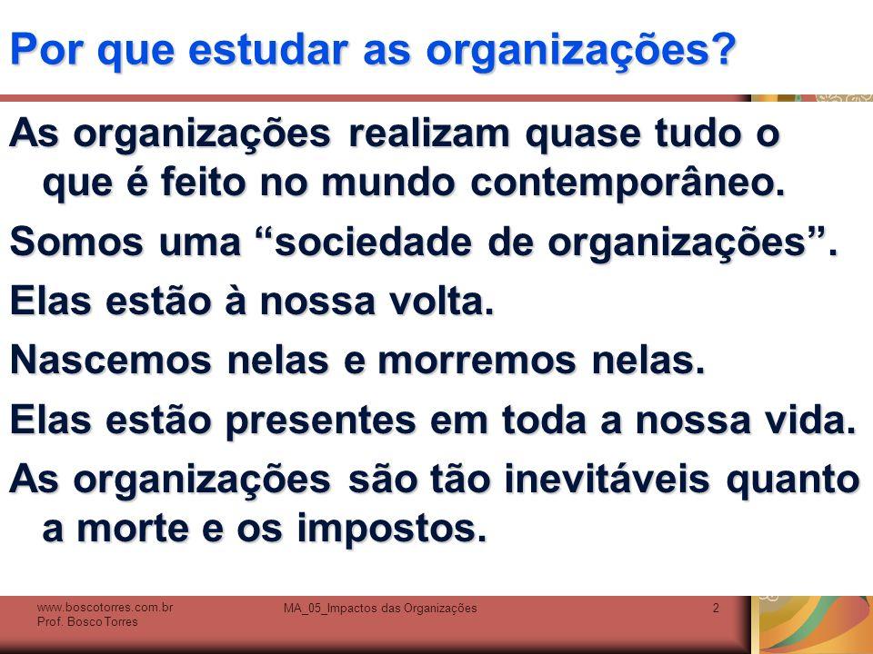 Por que estudar as organizações