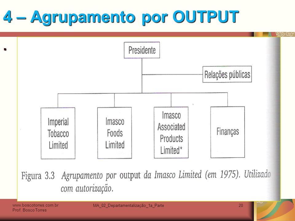 4 – Agrupamento por OUTPUT