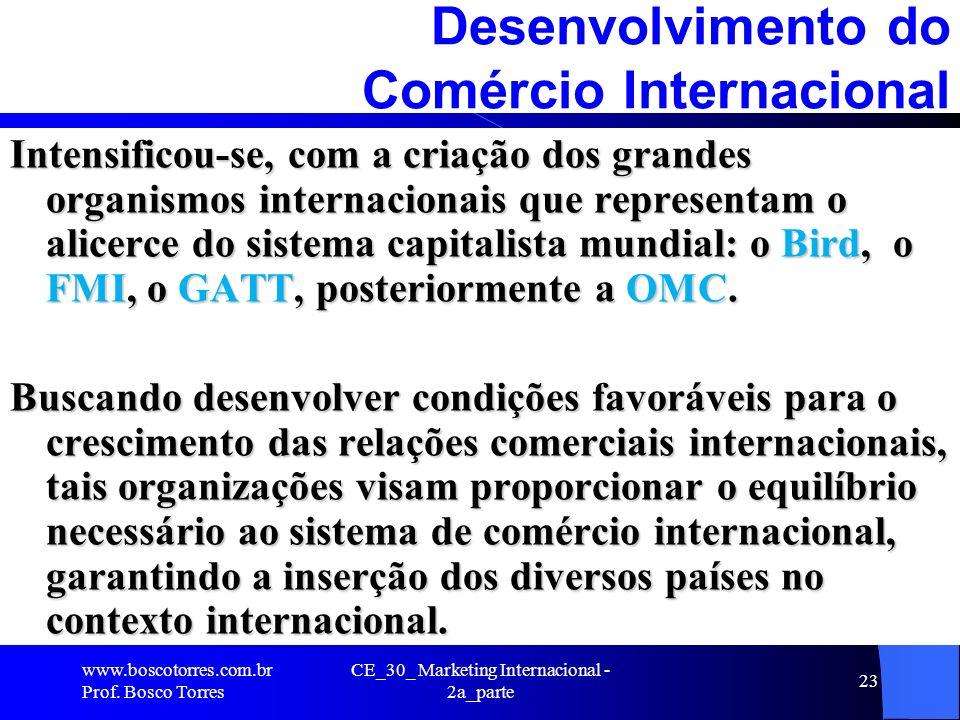 Desenvolvimento do Comércio Internacional
