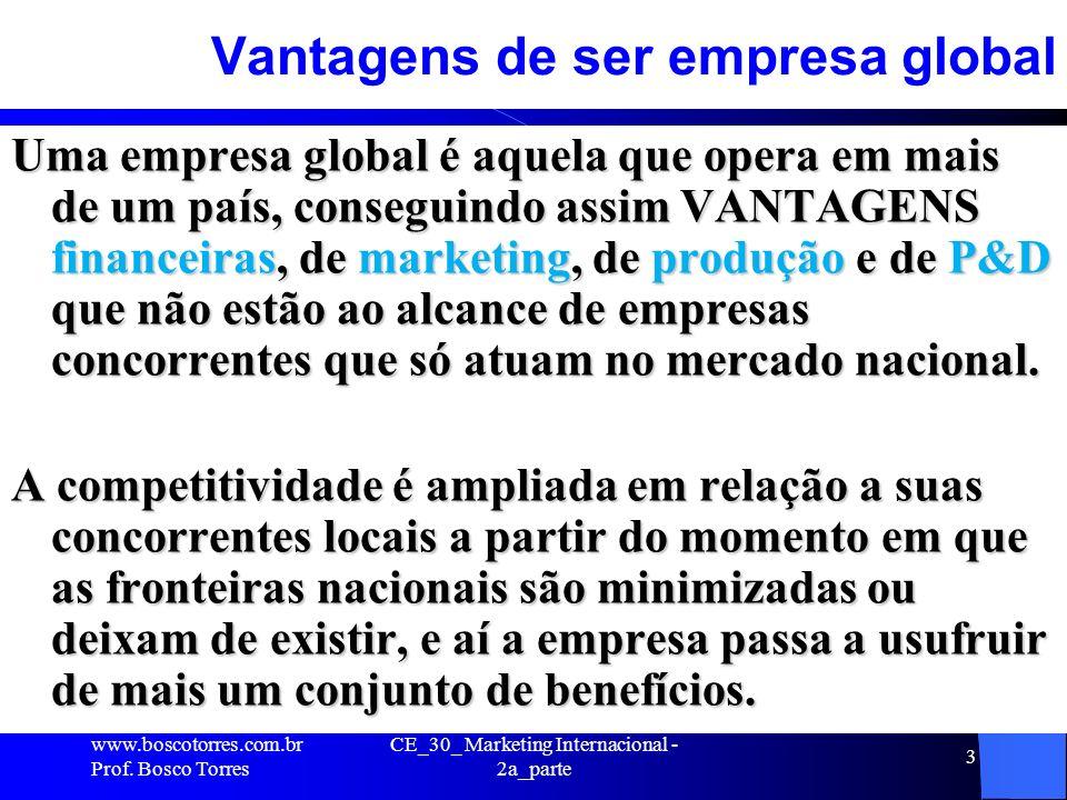 Vantagens de ser empresa global