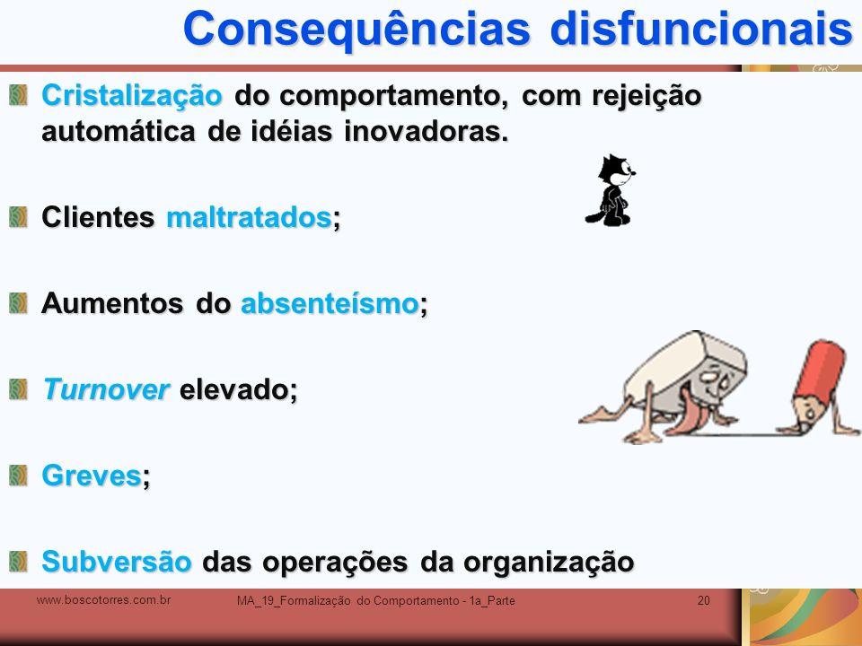 Consequências disfuncionais